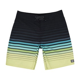 Billabong All Day Stripe 20in Boys Boardshorts - Lime