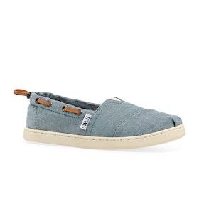 Toms Bimini Kids Slip On Shoes - Chambray