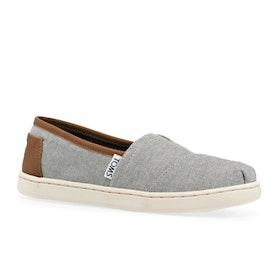 Toms Alpargata Kids Slip On Shoes - Frost Grey Chambray
