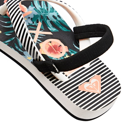 Roxy Tw Pebbles Vip Girls Flip Flops