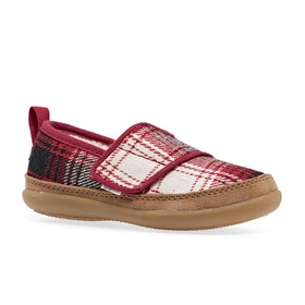 Toms Inca Kids Slippers - Tiny Red Plaid