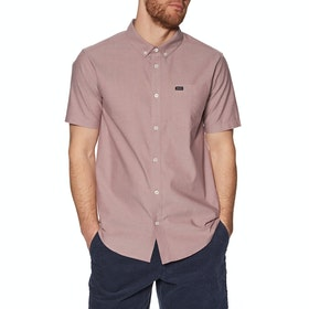 RVCA Thatll Do Stretch Short Sleeve Shirt - Oxblood Red