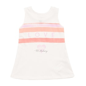 Billabong Love Stripe Girls Tank Vest - Salt Crystal