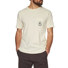 Vissla Backward Fin Beach Grit Kurzarm-T-Shirt - Bone