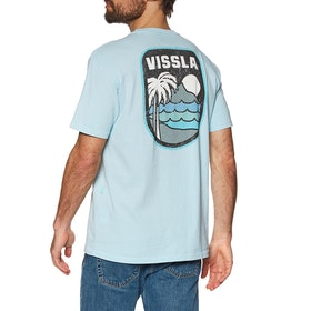 Vissla Diamond Head Pocket Kurzarm-T-Shirt - Ice Blue