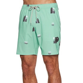 "Vissla Outside Sets 17.5"" Ecolastic Boardshorts - Mint"