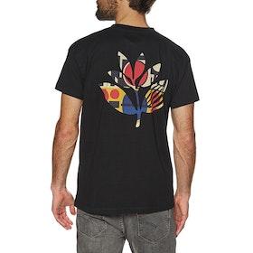 Magenta Shapes Plant Short Sleeve T-Shirt - White