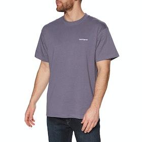 Carhartt Script Embroidery Short Sleeve T-Shirt - Decent Purple / White