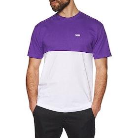 T-Shirt à Manche Courte Vans Colour Block - White Heliotrope