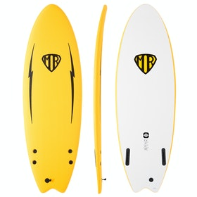 Ocean and Earth Mark Richards Ezi Rider Twin Fin Surfboard - Yellow