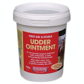Soin du cuir Equimins Udder Ointment - White
