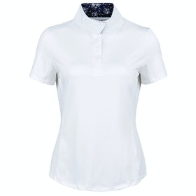 Dublin Ria Short Sleeve Ladies Competition Shirt - White Navy