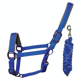 Woof Wear Colour Fusion Lead Rope & Head Collar - Electric Blue
