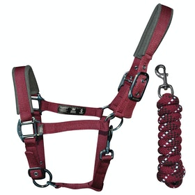 Cabezada Woof Wear Colour Fusion Lead Rope & - Shiraz