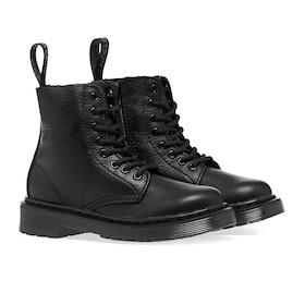 Dr Martens 1460 Pascal Mono J Kid's Boots - Black Virginia