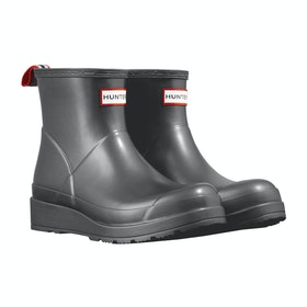 Hunter Org Play Boot Short Nebula Womens Wellies - Black