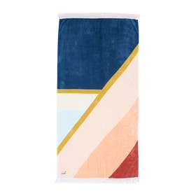 Rip Curl Standard Towel Sunsetters Womens Beach Towel - Dark Blue