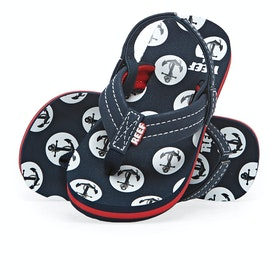 Reef Little Ahi Convertible Kids Sandals - Anchors