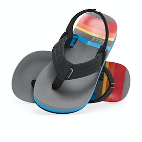 Reef Ahi Kids Sandals - Grey Pinstripes