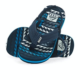 Reef Ahi Kids Sandals - Water Blue