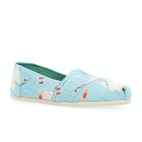 Toms Surfdome UK Exclusive Womens Slip On Shoes - Blue