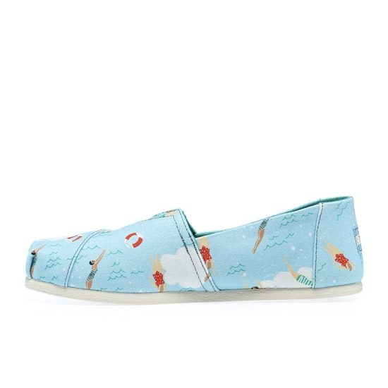 Toms Surfdome UK Exclusive Womens Slip On Shoes