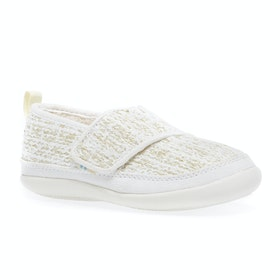 Toms Inca Kids Slippers - Tiny White Metallic Boucle