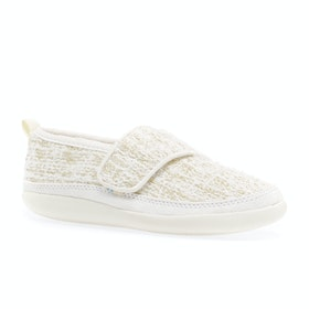 Toms Inca Kids Slippers - Youth White Metallic Boucle