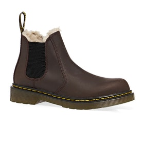 Dr Martens 2976 Leonore Kids Boots - Dark Brown Republic Wp
