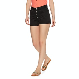 Billabong Button Front High Tide Womens Shorts - Black