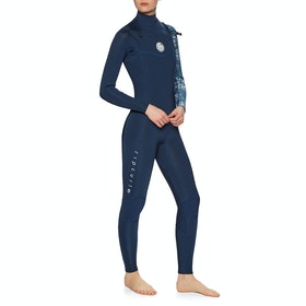 Rip Curl Dawn Patrol 4/3mm Chest Zip Womens Wetsuit - Dark Blue