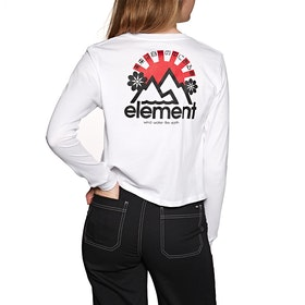 Element Rising Crop Womens Long Sleeve T-Shirt - White