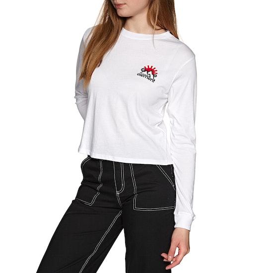 Element Rising Crop Womens Long Sleeve T-Shirt