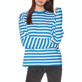 Carhartt Scotty Long Sleeve T-Shirt - Scotty Stripe, Azzuro / White Stripe