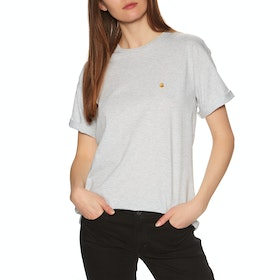 Carhartt Chasy Short Sleeve T-Shirt - Ash Heather / Gold
