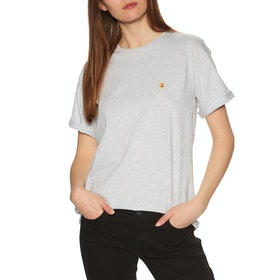 T-Shirt à Manche Courte Carhartt Chasy - Ash Heather / Gold