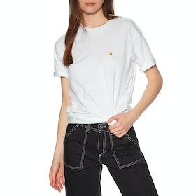 Carhartt Chasy Short Sleeve T-Shirt - White / Gold