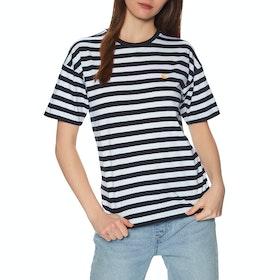 Carhartt Scotty Short Sleeve T-Shirt - Scotty Stripe, Dark Navy / White Stripe