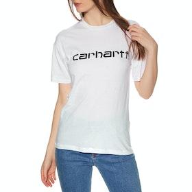 Carhartt Script Womens Short Sleeve T-Shirt - White / Black