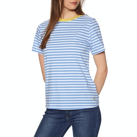 Joules Lexi Womens Top - White Blue Stripe