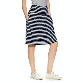 Joules Tayla Nederdel - Navy Cream Stripe