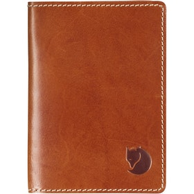 Fjallraven Leather Passport Wallet Document Holder - Leather Cognac