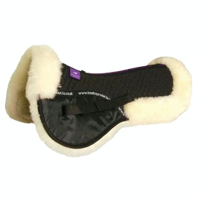 KM Elite Lambswool Half Pad Saddlepads - Black Natural