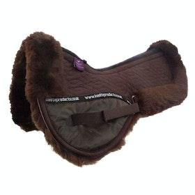 KM Elite Lambswool Half Pad Saddlepads - Mocha Mocha
