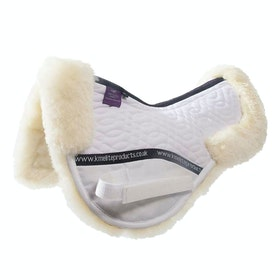 KM Elite Lambswool Half Pad Saddlepads - White Natural
