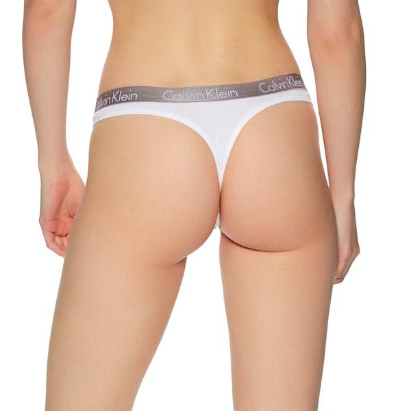 Calvin Klein 3 Pack Silver Waistband Thong