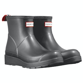 Hunter Org Play Boot Short Nebula Ladies Wellington Boots - Black