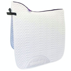 KM Elite Dressage Cotton Square Saddlepads - White