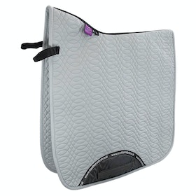 KM Elite Dressage Cotton Square Saddlepads - Platinum