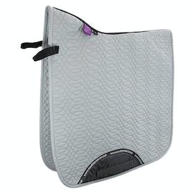 KM Elite Dressage Cotton Square Saddle Pad - Platinum